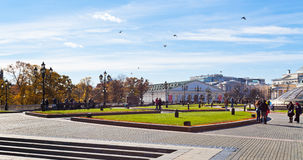 Manezhnaya Square in Moscow in autumn Royalty Free Stock Photography