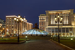 Manezhnaya square in Moscow Stock Image
