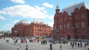 Manezhnaya Square, Moscow stock video footage