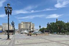 Manezhnaya Square in Moscow Royalty Free Stock Photos
