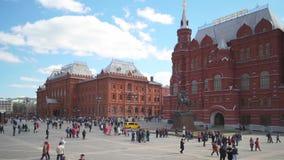 Manezhnayavierkant, Moskou Timelapse stock videobeelden