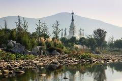 Manfeilong pagoda. Landscape of Manfeilong pagoda from far away Royalty Free Stock Image