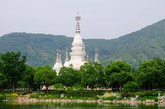 Manfeilong pagoda Wuxi China Stock Image