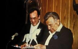 Manfred Rommel en Teddy Kollek royalty-vrije stock foto