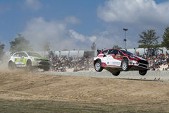 Manfred STOHL Ford Fiesta Barcelona FIA World Rallycross Foto de Stock Royalty Free
