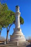 Manfredi Lighthouse no monte de Gianicolo Janiculum em Roma, Itália fotos de stock