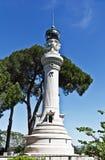 Manfredi Lighthouse no monte Gianiculum em Roma fotografia de stock