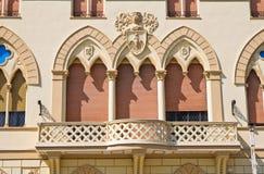 Manfredi pałac. Cerignola. Puglia. Włochy. Obrazy Royalty Free