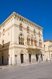 Manfredi Palace. Cerignola. Puglia. Italien. Royaltyfria Foton