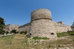 Manfredonia (Foggia, Puglia, Italy) - Castle Royalty Free Stock Image
