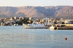 Manfredonia and the Gargano mountains, Italy royalty free stock images