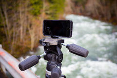 Manfrotto KLYP+ Lens and Tripod System for iPhone Stock Photography