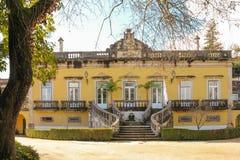Mangårdsbyggnad Coimbra portugal Arkivbilder