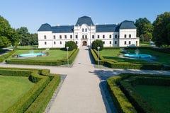 Mangårdsbyggnaden i Humenne, Slovakien Arkivfoto