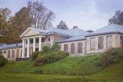 Mangårdsbyggnaden i Monrepos parkerar Arkivbilder