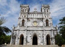 Mang Lang gammal kyrka i Phuyen, Vietnam Arkivfoto