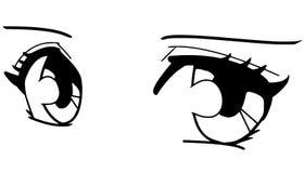 Manga眼睛 免版税库存照片