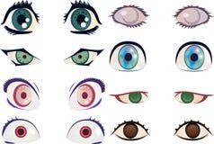 Manga/глаза аниме Стоковая Фотография