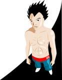 manga мальчика Иллюстрация вектора