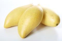Manga amarela em um fundo branco Foto de Stock
