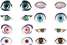 Manga/anime eyes Stock Photography