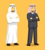 Manga Arab Man Cartoon Vector-Illustratie Stock Foto's