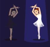 Manga Ballet Pose Cartoon Vector 1 Stock Fotografie