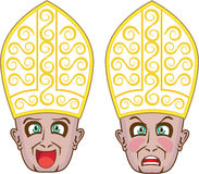 Manga Cartoon Face教皇 皇族释放例证