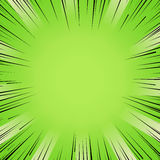 Manga comic book flash purple explosion radial lines background. Abstract comic book flash bright green explosion radial lines background. Vector illustration Stock Photo