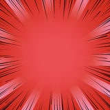 Manga comic book flash red explosion radial lines background. Abstract comic book flash bright red explosion radial lines background. Vector illustration for Stock Photography