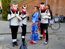 Manga cosplayers at Lucca Comics and Games 2014 Royalty Free Stock Photo