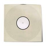 Manga de disco de vinilo en blanco Fotos de archivo