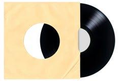 Manga de disco de vinilo en blanco Fotografía de archivo