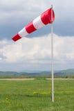 manga de viento Blanco-roja Imagen de archivo