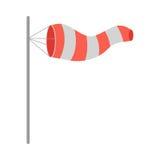 Manga de viento de la meteorología inflada por el viento Vector libre illustration