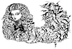 Manga Dziewczyna Obraz Stock