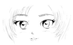 Manga Eyes Royalty Free Stock Photo