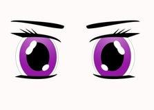 Manga eyes. Asian manga style eyes of a young woman Royalty Free Stock Image