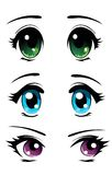 Manga eyes set Royalty Free Stock Photos