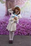 Manga flicka Fotografering för Bildbyråer