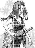 Manga gestileerd samoeraienmeisje Stock Afbeelding