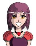 Manga girl Stock Image