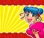 Manga girl Stock Photo