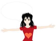 Manga girl Stock Photo