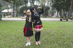 Manga girls Royalty Free Stock Image