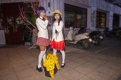 Manga girls Royalty Free Stock Photography