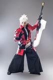 Manga hero with sword Stock Image