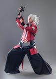 Manga hero with sword Royalty Free Stock Photo
