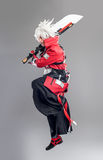 Manga hero with sword Stock Photography