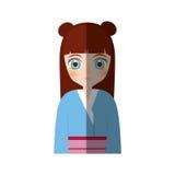 manga japonés de la muchacha linda - sombra Imágenes de archivo libres de regalías
